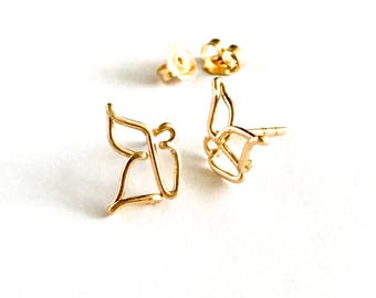 Butterfly Studs. Gold Butterfly Post Earrings.