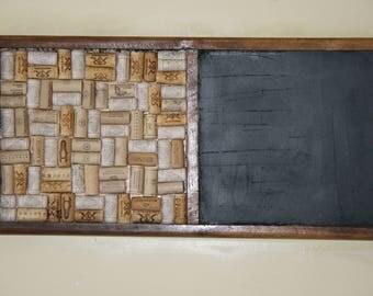 Walnut Chalk and corkboard