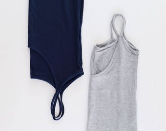 Set of two mix and match low back tanks - choose your colors!! Save on combo price!! Yoga top - yoga clothes - activewear. Size SM and ML