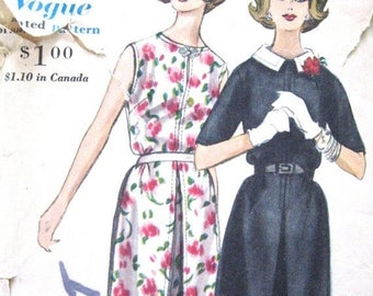 ON SALE 60s Vogue 5214 Dress Pattern  Bust 32 inches