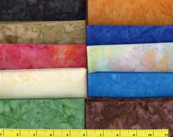 "Watercolor Delight Batik Jelly Roll 40 - 2.5"" Strips Quilting Fabric #b29"