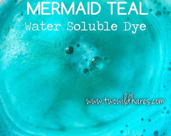 MERMAID TEAL Water Soluble Dye, 90% Pure Dye, Cosmetic Colorant, FDA Legal for Use in For Sale Products, 1 oz