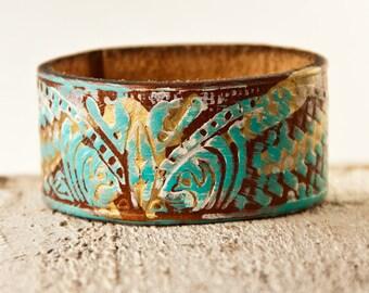 Boho Jewelry Turquoise Cuff Bracelet Gypsy Festival Fashion