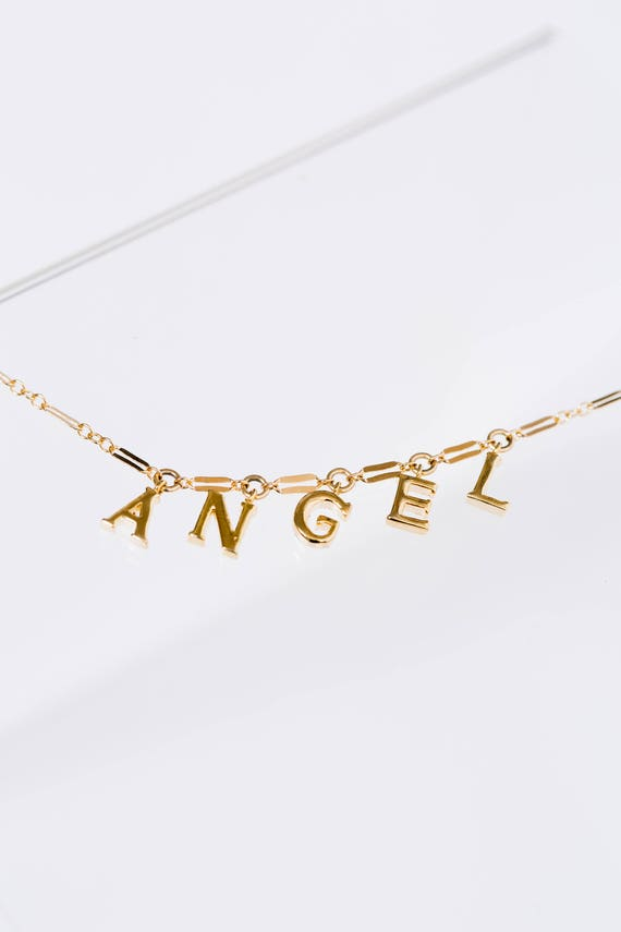 Angel Word Charm Anklet