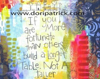 Build a Longer Table - 8x10 print