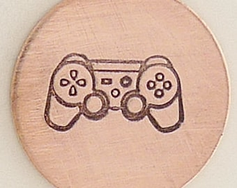 Game Controller Metal Design Stamp 6 mm x 3 mm  - Metal Jewelry Stamping Tool
