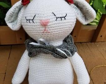 Big Bunny Hand Crocheted Stuffed Animal - Amigurumi