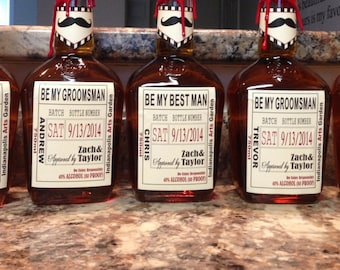 Private Listing for idolajeunessemj Will you Be My Groomsman Liquor Labels, Best Man Gifts, Groomsman Labels