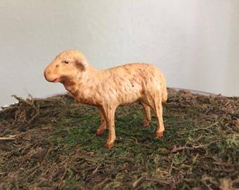 German putz sheep with matchstick legs