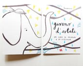 coloring book, diy book for coloring and drawing, fresh summer illustrations, color fun