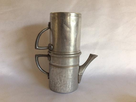 Italian Coffee Maker Aluminum : Italian Aluminum Flip Drip Coffee Maker