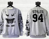 Butterfly Styles Tattoos Sweatshirt Sweater Jumper Pullover Shirt – Size S M L XL Christmas gift