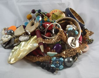Destash! Junk Drawer Treasures Mixed Lot Jewelry Beads Odds and Ends by ceecee designs on etsy