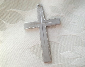 Vintage Sterling Cross Pendant