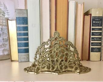 Brass Letter Holder Sorter Desk Organizer Vintage Andrea Sedek