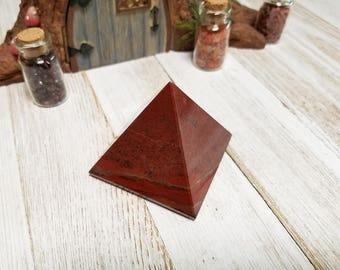 Red Jasper Pyramid - Stone for the Lifeblood of Earthen Energy