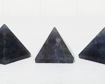 Blue Aventurine Gemstone Pyramid - Stone for Elemental Power