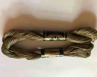 DMC Coton Perle 5 #640 Beige Gray Very Dark 100% Mercerized Pearl Cotton Thread 27 yd skein Pearl Cotton crochet, cross stitch, needlepoint