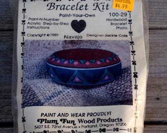 Plum Fun Paint-By-Number Bracelet Kit DIY