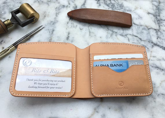 Handmade Leather Wallet,  Men's Leather Wallet, Bifold Leather, Personalized Leather Wallet
