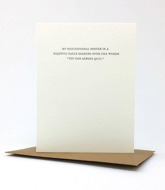 motivational poster card. #836