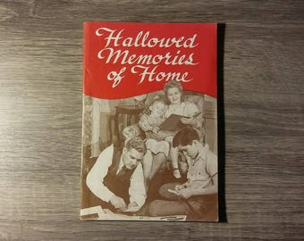 Vintage Hallowed Memories of Home by Helen K Oswald, 1948. The Voice of Prophecy paperback book, Southern Publishing Association