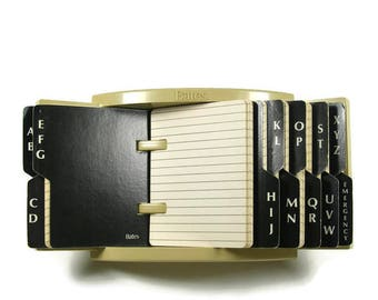 The Quickster Model 123 by Bates Mfg Co  Desk Top or Wall Mount Flip File Address Book Phone Numbers
