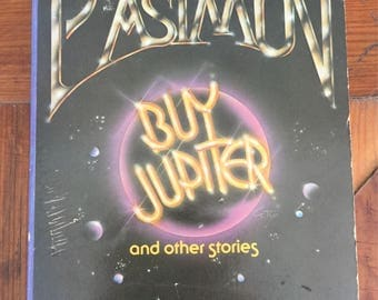 Vintage Paperback, Isaac Asimov, Buy Jupiter 1975, vintage science fiction, book decor, FREE SHIPPING