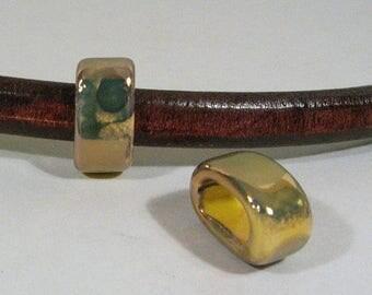 Yellow-Orange-Green Regaliz 10mm Ceramic Beads - CR10-10
