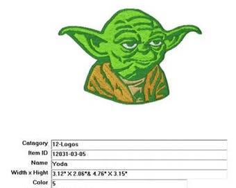 Embroidery Machine File  12031-03-05 Yoda
