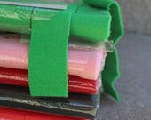 SALE SALE SALE Vintage Wool Strips Rug Making Braiding Braided Braid Aid Company Green Red Pink Weaving Crafting Supplies