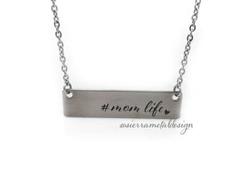Mom Life Necklace Best Mom Ever Gift From Kids Mom Life Good Life Mothers Day Best Kids Ever Birthday Jewlery Accessory