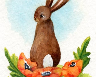 Poppy The Rabbit, original ACEO
