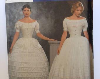 Crinoline Petticoat Pattern Uncut FF Simplicity 9764 28 30 32 34 waist medium large extra large plus size Fashion Historian Martha McCain
