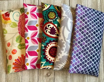 5 Wholesale Eye Pillows -Removable Covers- Eye Pillows, Organic Lavender and Rice Eye Pillows- Flaxseed Option Aromatherapy Eye Mask