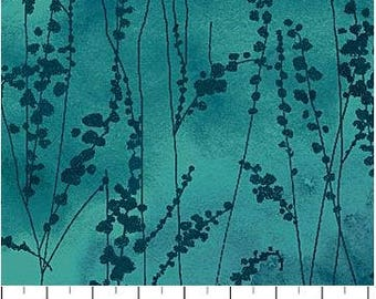 Northcott - Ambrosia - Vine Stems - Aegean Sea - Teal Fabric by yard or select cut  21250-68