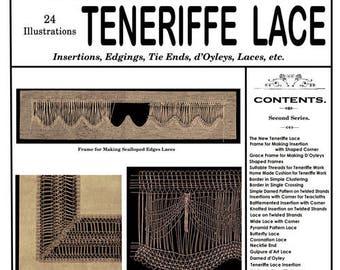 Weldon's 2D #199 c.1901 - Practical Teneriffe Lace (PDF EBook - Digital Download)