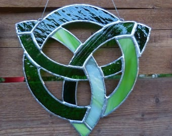 Stained Glass Celtic Knot-Handmade-Suncatcher-Wedding Gift-Anniversary-Window Decor-House Warming-Christmas-Unique Gift-Birthday