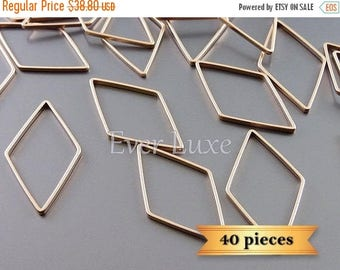 10% SALE 40 marquise diamond shaped 24mm charms, wholesale supplies 938-MRG-24-BULK