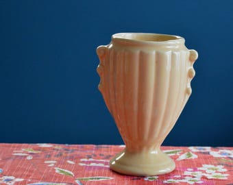 Vintage Yellow Shawnee Pottery Vase