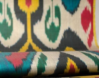 Uzbek ikat fabric by the yards