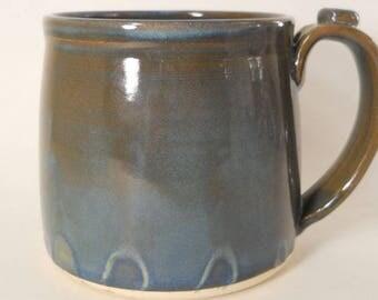 Large Mug 35 oz Unique Handmade Stoneware Pottery Mug #170306