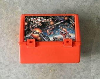 orange thermos transformers lunch box - 1211421