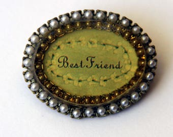 Best Friend Brooch Signed Maximal Art