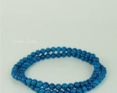 CIJ SALE Blue Stretch Bracelets Dyed Jade 4mm Stackable Bracelets Gemstone Bracelets Beaded Bracelets