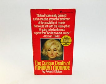 Vintage Pop Culture Book The Curious Death of Marilyn Monroe by Robert Slatzer 1975 Paperback