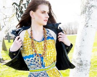 Vlisco Ankara Dress in African Wax Block Cotton