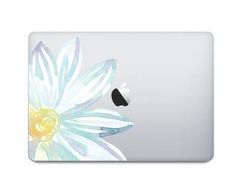 Watercolor Flower Laptop Decal - Watercolor MacBook Sticker - Original Flower Watercolor Painting