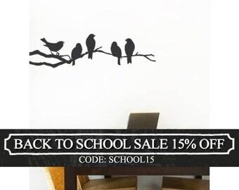 Birds on a Branch Decal - Vinyl Wall Sticker