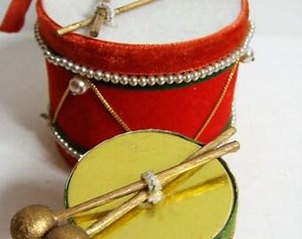 Velveteen Drums Set of 2 Japan Velveteen Ornament Drum Ornament